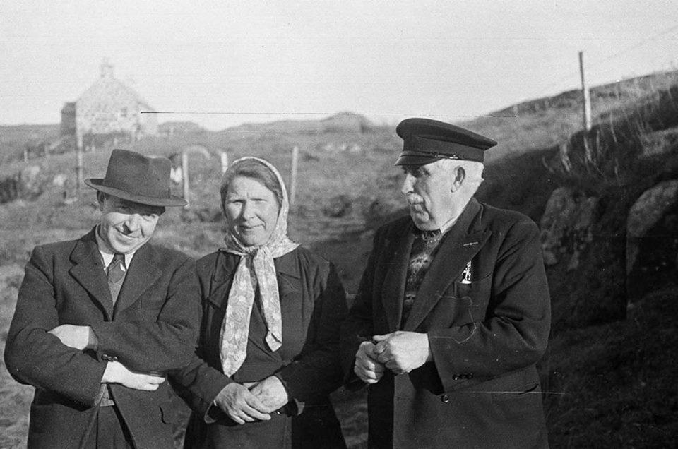Calum Maclean, Katie Buchanan and John MacPherson (The Coddie) 1947