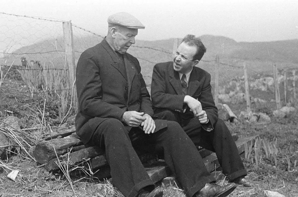 Calum Maclean and Donald MacPhee, Barra 1947