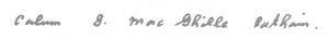 Calum Maclean signature